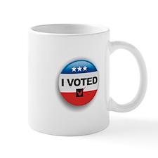 I Voted Button Mug