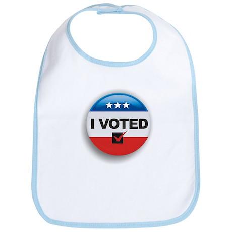 I Voted Button Bib