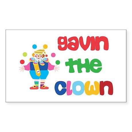 Gavin - The Clown Rectangle Sticker