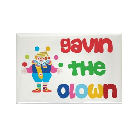 Gavin - The Clown Rectangle Magnet