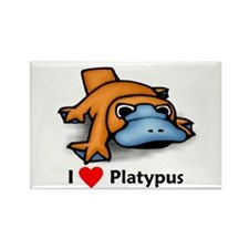 I Love Platypus Rectangle Magnet