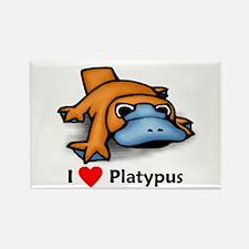 I Love Platypus Rectangle Magnet