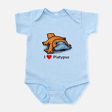 I Love Platypus Infant Bodysuit