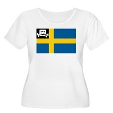 Music Pirate Swedish Flag T-Shirt