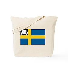Music Pirate Swedish Flag Tote Bag