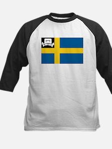 Music Pirate Swedish Flag Kids Baseball Jersey
