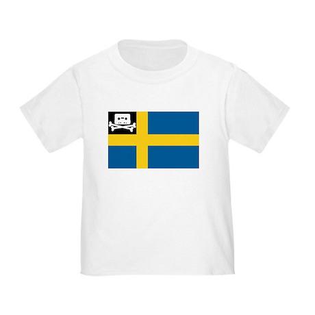 Music Pirate Swedish Flag Toddler T-Shirt