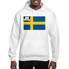 Music Pirate Swedish Flag Hoodie