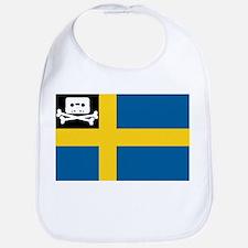Music Pirate Swedish Flag Bib