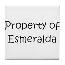 Cute Esmeralda Tile Coaster