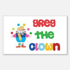Greg - The Clown Rectangle Decal