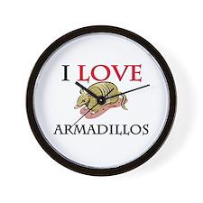 I Love Armadillos Wall Clock