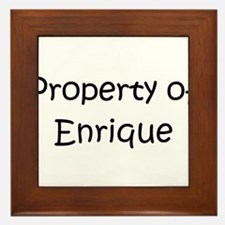 Cute Enrique Framed Tile