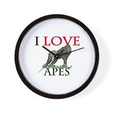 I Love Apes Wall Clock