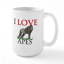 I Love Apes Large Mug