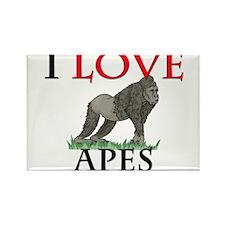 I Love Apes Rectangle Magnet