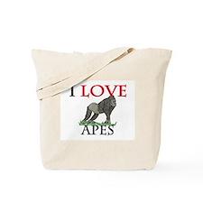 I Love Apes Tote Bag