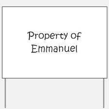 Cute Emmanuel Yard Sign