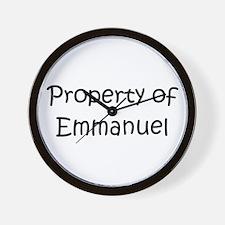 Cute Emmanuel Wall Clock