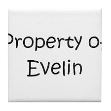 Funny Evelin Tile Coaster
