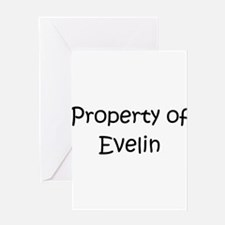 Unique Evelin Greeting Card