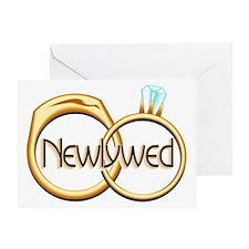 Newlywed Rings Greeting Card