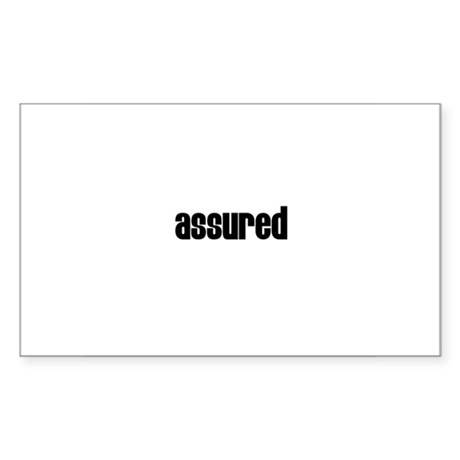 Assured Rectangle Sticker