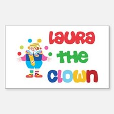 Laura - The Clown Rectangle Decal