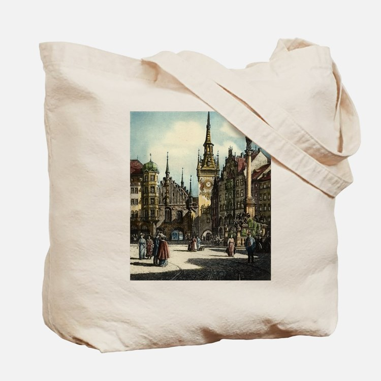 Old Munich Cityscape Tote Bag