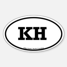 Kitty Hawk, NC Oval Decal