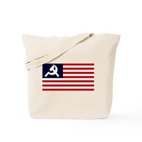 Soviet America Flag Tote Bag