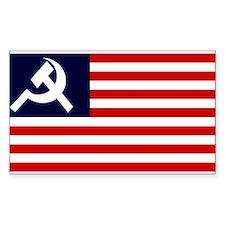 Soviet America Flag Rectangle Decal