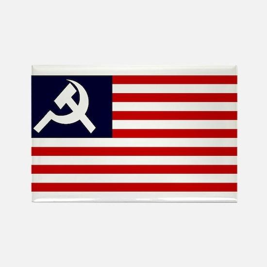 Soviet America Flag Rectangle Magnet