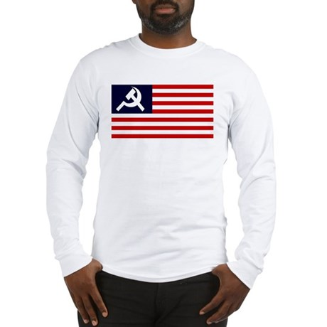 Soviet America Flag Long Sleeve T-Shirt