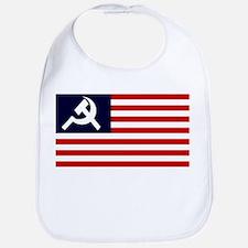 Soviet America Flag Bib