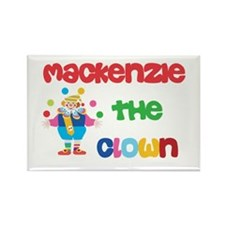 Mackenzie - The Clown Rectangle Magnet