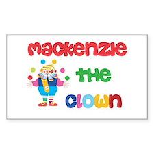 Mackenzie - The Clown Rectangle Decal