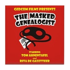 The Masked Genealogist Tile Coaster
