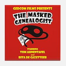 The Masked Genealogist Tile Coaster