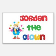 Jordan - The Clown Rectangle Decal