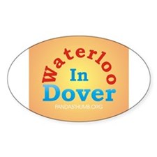 Waterloo In Dover Oval Decal