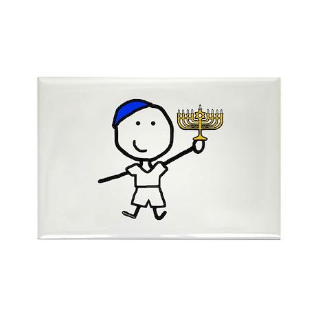 Boy & Hanukkah Rectangle Magnet (100 pack)