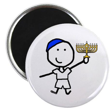 "Boy & Hanukkah 2.25"" Magnet (10 pack)"