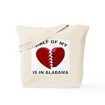 Heart In Alabama Tote Bag