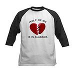 Heart In Alabama Kids Baseball Jersey