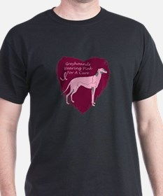 Pink Ribbon Greyhounds T-Shirt