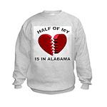 Heart In Alabama Kids Sweatshirt