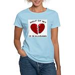 Heart In Alabama Women's Pink T-Shirt