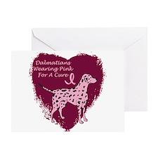 Pink Ribbon Dalmatian Greeting Card