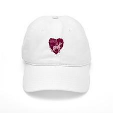 Pink Ribbon Dalmatian Baseball Cap